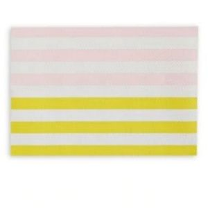 set of 4 kate spade Stripe Textured Placemats nwt